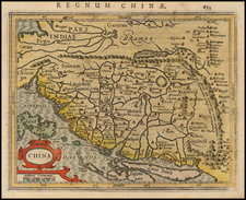 China Map By Jodocus Hondius - Gerard Mercator