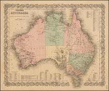 Australia Map By G.W.  & C.B. Colton