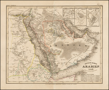 Middle East and Arabian Peninsula Map By Joseph Meyer
