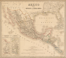Southwest, Mexico and Central America Map By Weimar Geographische Institut