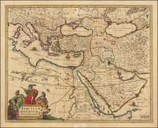 Turkey, Mediterranean, Middle East and Turkey & Asia Minor Map By Carel Allard