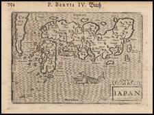 Japan and Korea Map By Petrus Bertius