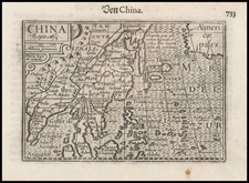China, Korea and Southeast Asia Map By Petrus Bertius