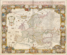 Europe and Europe Map By Louis Charles Desnos