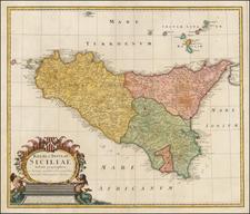 Sicily Map By Homann Heirs