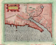 Southwest, Mexico, Baja California and California Map By Cornelis van Wytfliet
