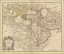 Middle East, Arabian Peninsula and Persia Map By John Senex