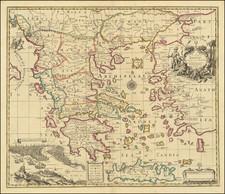 Turkey and Greece Map By John Senex