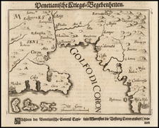 Greece Map By Johann Christoph  Wagner