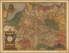 Europe, Europe, Netherlands, Germany, Austria, Poland, Hungary, Czech Republic & Slovakia and Baltic Countries Map By Frans Hogenberg