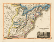 United States and Southeast Map By John Thomson