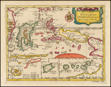 Southeast Asia, Indonesia and Other Islands Map By Nicolas Sanson