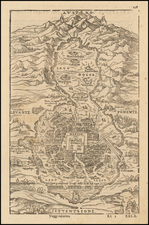 [Untitled Map of Mexico City] By Giovanni Battista Ramusio