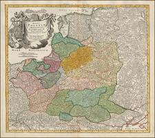 Poland, Russia, Ukraine and Baltic Countries Map By Johann Baptist Homann