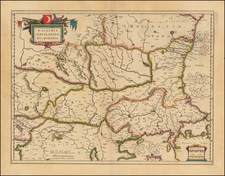 Romania, Balkans and Bulgaria Map By Willem Janszoon Blaeu