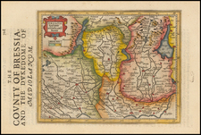 Italy and Northern Italy Map By Jodocus Hondius - Gerhard Mercator