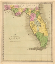 Florida Map By Jeremiah Greenleaf
