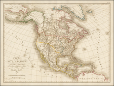 South and North America Map By Ambroise Tardieu