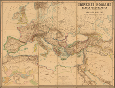 Europe, Europe, Italy, Mediterranean, Middle East and Turkey & Asia Minor Map By Heinrich Kiepert