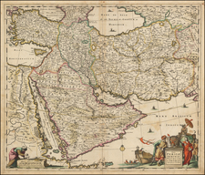 Turkey, Balearic Islands, Central Asia & Caucasus, Middle East, Arabian Peninsula and Persia Map By Frederick De Wit