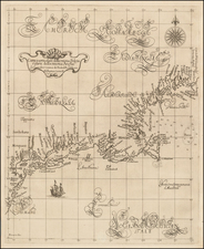 New England, New York State and Mid-Atlantic Map By Robert Dudley