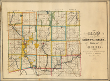 Ohio Map By James C. Whitaker