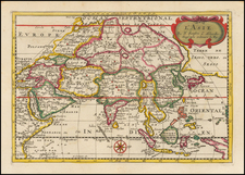 Asia and Asia Map By Nicolas Sanson