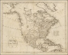 North America Map By John Reid