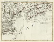 New England and Canada Map By Antonio Zatta