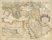 Greece, Turkey, Mediterranean, Middle East, Turkey & Asia Minor and Egypt Map By Giacomo Giovanni Rossi - Giacomo Cantelli da Vignola