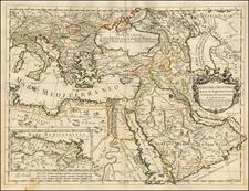 Turkey, Mediterranean, Middle East, Turkey & Asia Minor, Egypt and Greece Map By Giacomo Giovanni Rossi - Giacomo Cantelli da Vignola