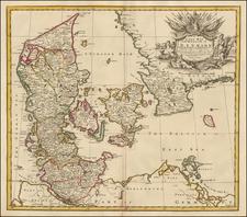 Denmark Map By John Senex