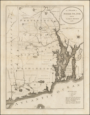 New England and Rhode Island Map By John Reid