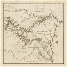 South, Louisiana, Arkansas, Texas, Plains, Kansas and Oklahoma & Indian Territory Map By Zebulon Montgomery Pike