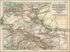 India and Central Asia & Caucasus Map By Augustus Herman Petermann