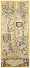 Russia and Ukraine Map By Willem Janszoon Blaeu