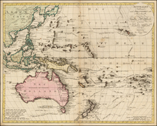 China, Korea, Southeast Asia, Philippines, Australia & Oceania, Australia, Oceania and Other Pacific Islands Map By Johann Walch