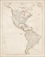 North America Map By Simon Schropp et Comp: