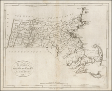 Massachusetts Map By John Reid