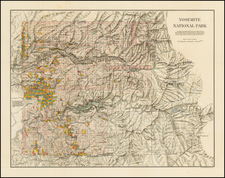 California and Yosemite Map By United States Department of the Interior