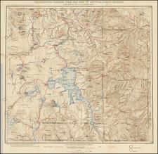 Rocky Mountains, Montana and Wyoming Map By U.S. Geological Survey