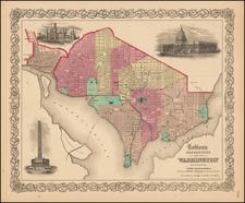 Washington, D.C. Map By G.W.  & C.B. Colton