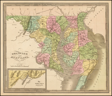 Mid-Atlantic, Maryland and Delaware Map By Jeremiah Greenleaf
