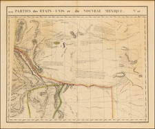Texas, Plains, Nebraska, Southwest and Rocky Mountains Map By Philippe Marie Vandermaelen