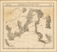 Plains and Rocky Mountains Map By Philippe Marie Vandermaelen