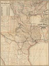 Texas Map By Rand McNally & Company