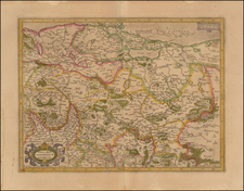 Germany and Poland Map By  Gerard Mercator