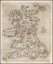 British Isles Map By Giovanni Francesco Camocio