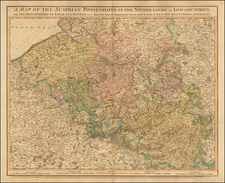 Belgium and Luxembourg Map By William Faden