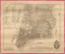 New York City Map By Casimir Goerck / Joseph Francois Mangin / Richard Cooke